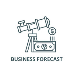 business forecast line icon business vector image