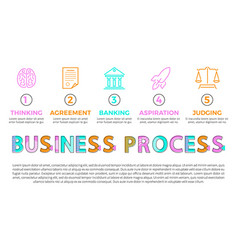 business process icons of different operations vector image