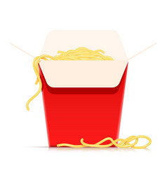 Chinese noodles in fast-food vector