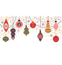 christmas holidays decorations winter holidays vector image