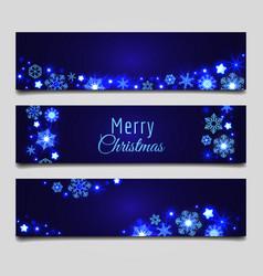 christmas snowflakes banners vector image
