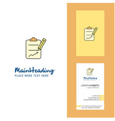 Clipboard creative logo and business card vector