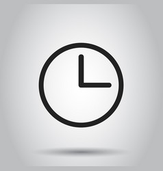 clock timer icon on isolated background business vector image