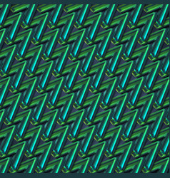 colorful green zigzag abstract background vector image