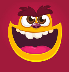 Cool red monster animal face vector