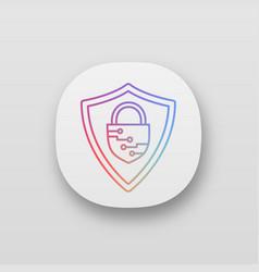 Cybersecurity app icon vector