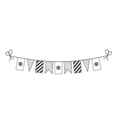 Decorations bunting flags for kyrgyzstan national vector