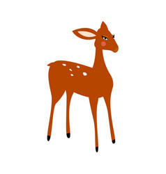 deer cartoon isolated vector image