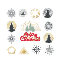different christmas trees vector image