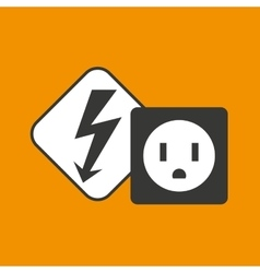 Electricity power icon vector