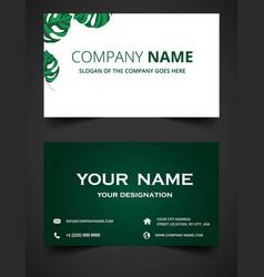 Elegant green business card vector