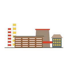 factory building game app icon in flat style vector image