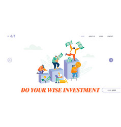 finance growth investment savings and capital vector image