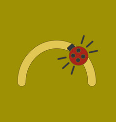 Flat icon on background kids toy ladybug vector