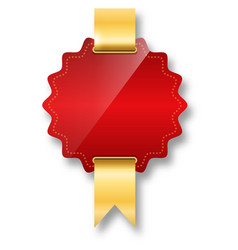 Golden premium quality red best label space vector