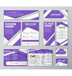 Great set for corporate identity vector image