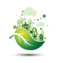 Green city 2 vector image