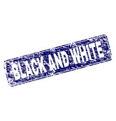 grunge black and white framed rounded rectangle vector image