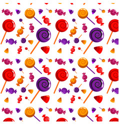 Halloween candy pattern vector