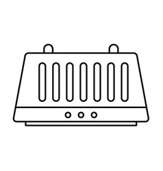 hand dryer icon outline style vector image