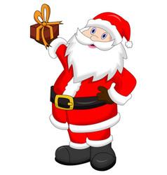 happy santa claus - cartoon style character vector image
