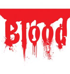Header blood dribble text vector