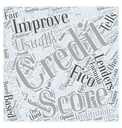 How to improve your credit score Word Cloud vector