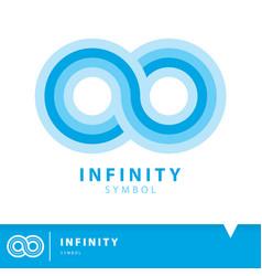 Infinity icon symbol vector