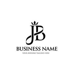 jb crown letter vector image