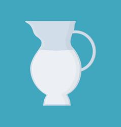 jug of milk icon in flat design vector image