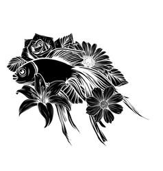 Koi fish tattoo design art vector