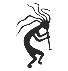 kokopelli - tribal tattoo symbol vector image