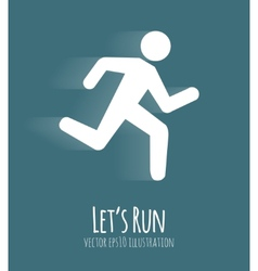 Let s Run Poster vector image