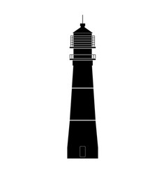 lighthouse the black color icon vector image