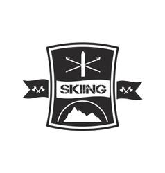 Logo design for skiing vector image