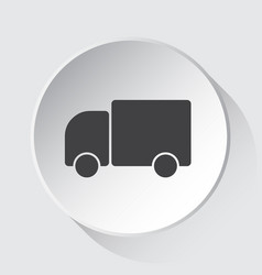 Lorry car - simple gray icon on white button vector