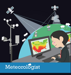 meteorologist occupation vector image