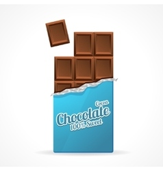 Milk Chocolate Bar Open vector image