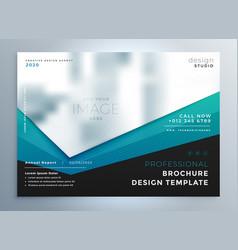 Modern business brochure presentation template vector