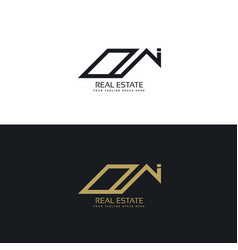 Modern real estate business logo design template vector