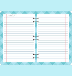 open notepad notebook with spiral vector image