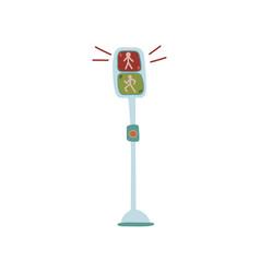 pedestrian traffic lights urban architecture vector image