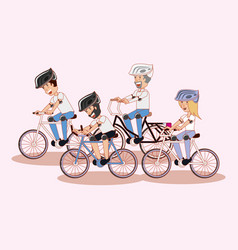 people riding bicycle design vector image