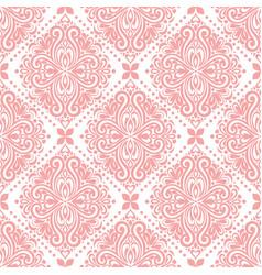 Pink onamental seamless pattern vector