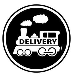 railway delivery symbol with train vector image