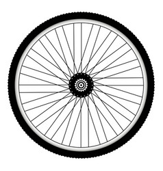 Rear bicycle wheel with spiked bicycle tire vector