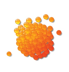 Red caviar vector