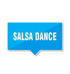 salsa dance price tag vector image