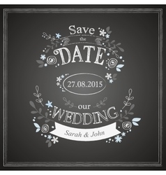 Save the date wedding card vector image