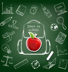 School bag doodle image vector